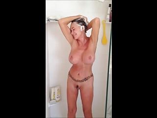Queasy grown-up back gabbling morning shower