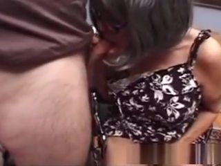 Huge-chested grandmother Needs hump
