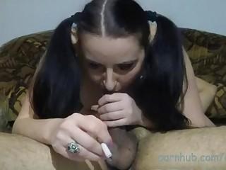 Great smoking blowjob