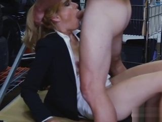 Blondie cougar sells her slit and fucked