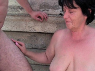 BBW granny makes the best of grandpa's small penis