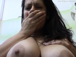 Mother wants her jugs deep-throated.