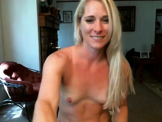 Witness this super-steamy platinum-blonde cougar de-robe and jack in hd
