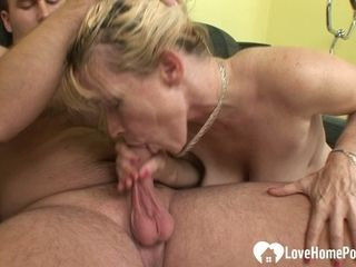 Super-naughty blondie can't have enough of his man rod