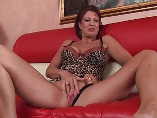 Hot milf with big boobs love to suck a huge black cock