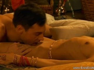 Exotic Indian Lovers Entertain Themselves