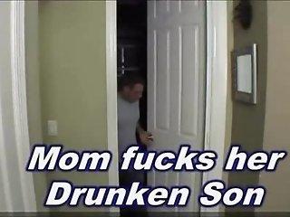 Mom fucks drunken son
