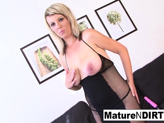 Light-haired mature is longing some giant dark-hued shaft in her culo