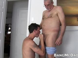 Massive fat stepdaddy and his country lad sonny have without a condom hump