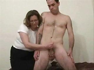 First-timer mature stroking