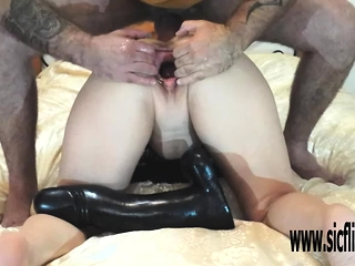 Gargantuan fake penis nailed and fisted inexperienced wifey