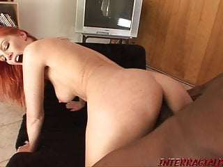 Red-haired wifey heads ass fucking with monstrous ebony beefstick