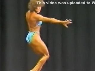 Antique chick muscle poser late 80s