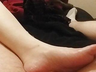 Cool Blue Toes feetjob Part 1