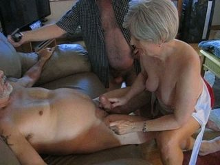 My kinky older wife is an awesome girl who enjoys to jerk me off on camera