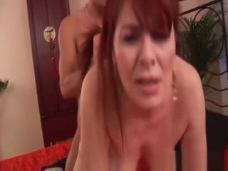 Ginger-haired furry mature harsh plowed