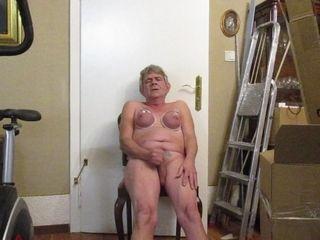 Old horny slut with boobs