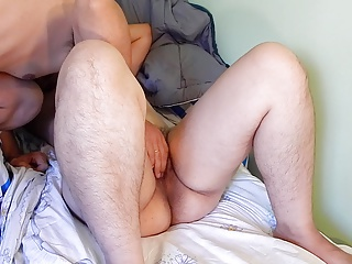 Hairy mature loving to lick my ass