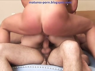 Russian mom gang-bang double penetration