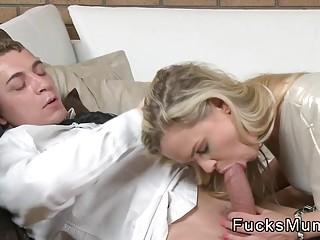 Nice ass Milf in panties fucks
