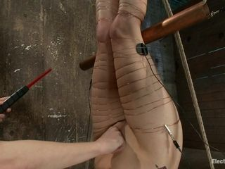 Lorelei Lee Bobbi Starr in An Upside Down Electrosex predicament bondage - Electrosluts