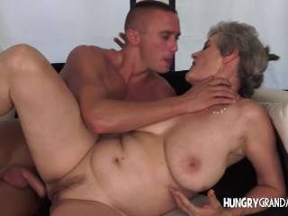 Chic grandma takes massive dick