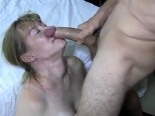 Mature with good-sized titties tugs his firm fuckpole