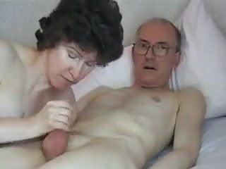 Guzzling Grandpa's immense manhood