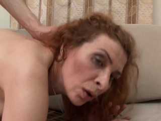 Redheaded mature gets screwed and rewarded with a facial cumshot