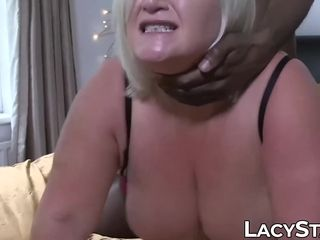 Sensual british grandma IR spread with enormous ebony lollipop