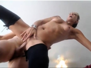 Platinum-blonde mature fuckslut with furry puss luvs a bbc