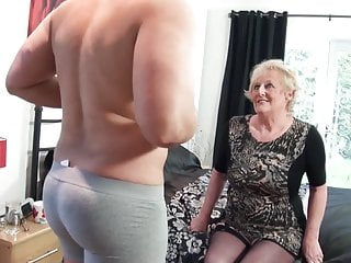 Brit elderly slut's muff requires a fresh giant man-meat every day