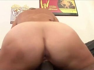 Tough grandma rails rock hard on a big black cock