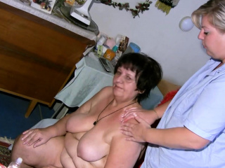 OldNannY girl-on-girl Mature luvs mischievous Attention