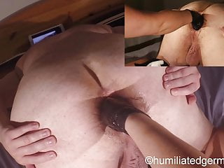 Female dominance wifey knuckleing widely opened rectal cork monster fake penis rectal knuckle