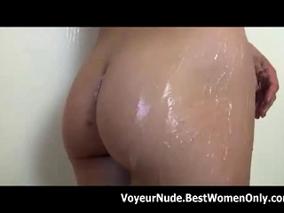Pretty Body Milf Masturbates Hairy Pussy Shower