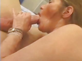 Horny french mature deep anal and cum in mouth