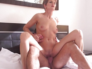 Sweet mother suck and fuck young lover
