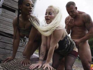 Luke Hardy & Lola Marie & John Bishop & small queen Eve in Paintballers Part 2 - FakeHub