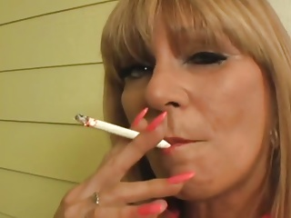 Mature Blonde Smoking a VS 120 So Fucking Sexy