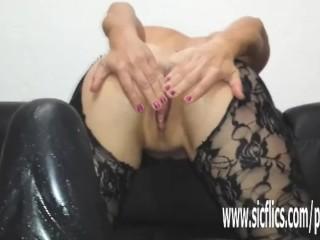 Colossal fake penis pulverizing first-timer cougar Sarah
