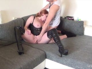 GERMAN hefty mounds STEP mother MELISSA caught and get pounded