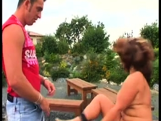 Good-sized-boobed cougar plus-size likes her time with a good-sized firm manmeat
