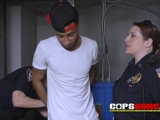 Recently let out criminal gets torn up by abnormal cougar cops