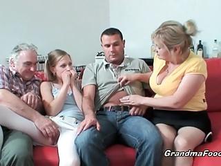 Hot amateur group sex