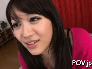 Sumptuous maid Shou Nishino gapes all the way