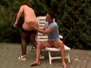 Rub-down the poolside