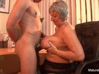 Mature plumper Takes A explosion On Her meaty innate knockers - Mature'NDirty