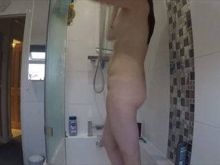 Jerking to covert webcam movies of my wifey showering