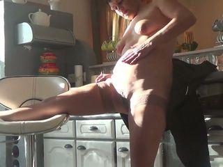 I enjoy observing insane mature doll jerk in the kitchen